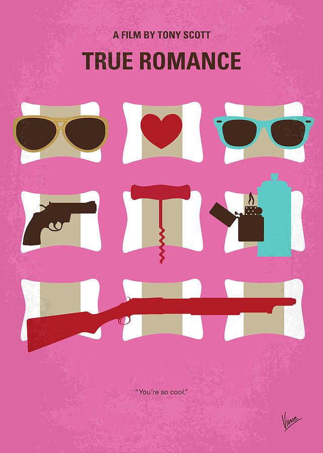 True Digital Art - No736 My True Romance Minimal Movie Poster by Chungkong Art