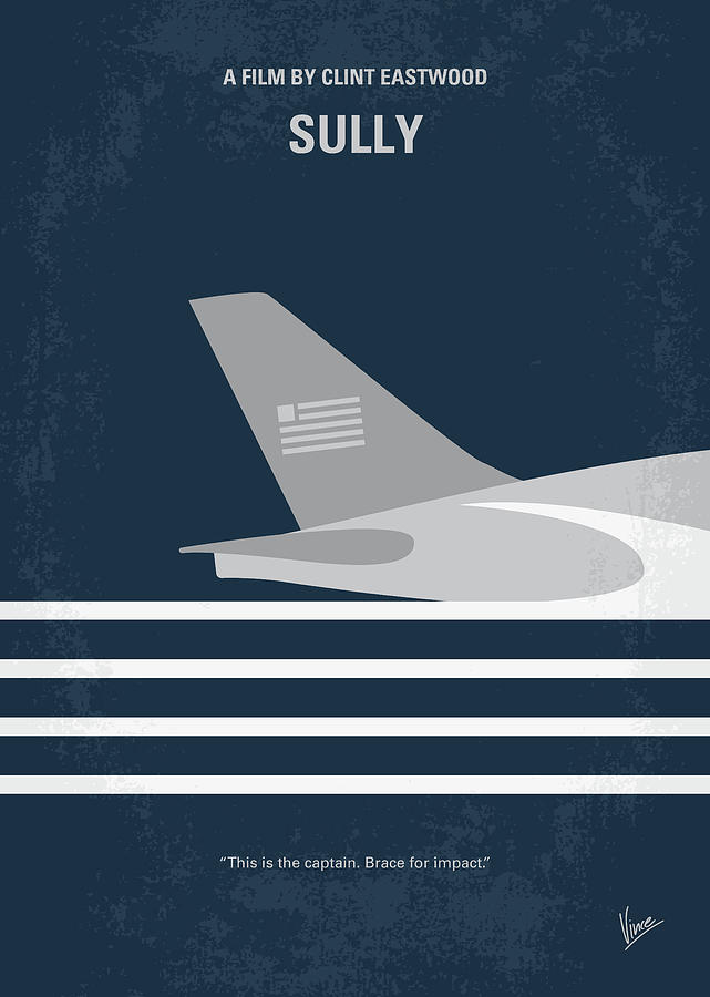 Sully Digital Art - No754 My Sully minimal movie poster by Chungkong Art