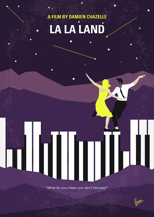 La Digital Art - No756 My La La Land Minimal Movie Poster by Chungkong Art