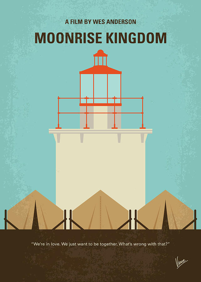 Moonrise Digital Art - No760 My Moonrise Kingdom Minimal Movie Poster by Chungkong Art