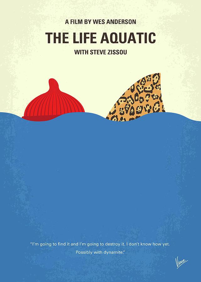 The Digital Art - No774 My The Life Aquatic With Steve Zissou Minimal Movie Poster by Chungkong Art