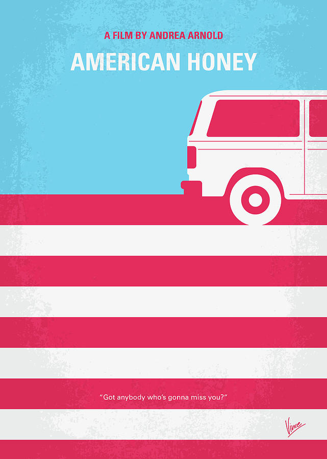 American Digital Art - No786 My American Honey Minimal Movie Poster by Chungkong Art