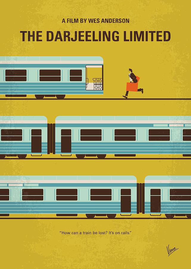 The Digital Art - No800 My The Darjeeling Limited Minimal Movie Poster by Chungkong Art