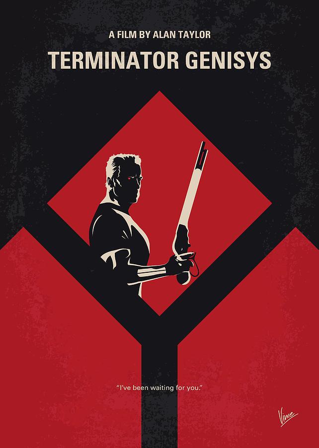 Terminator Digital Art - No802-5 My The Terminator 5 Minimal Movie Poster by Chungkong Art