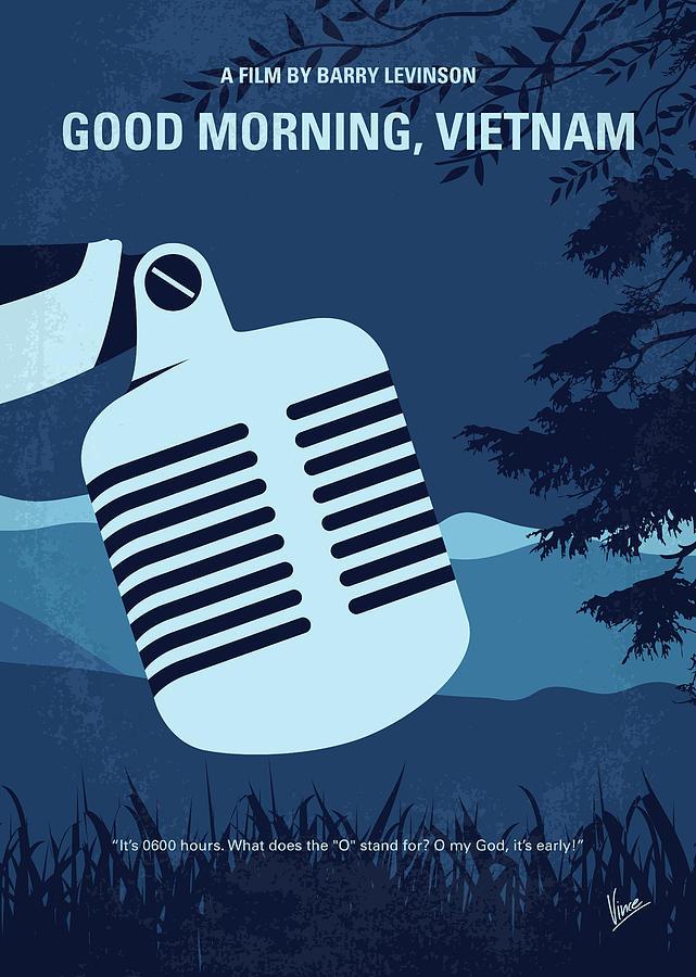 No811 My Good Morning Vietnam Minimal Movie Poster Digital Art By Chungkong Art