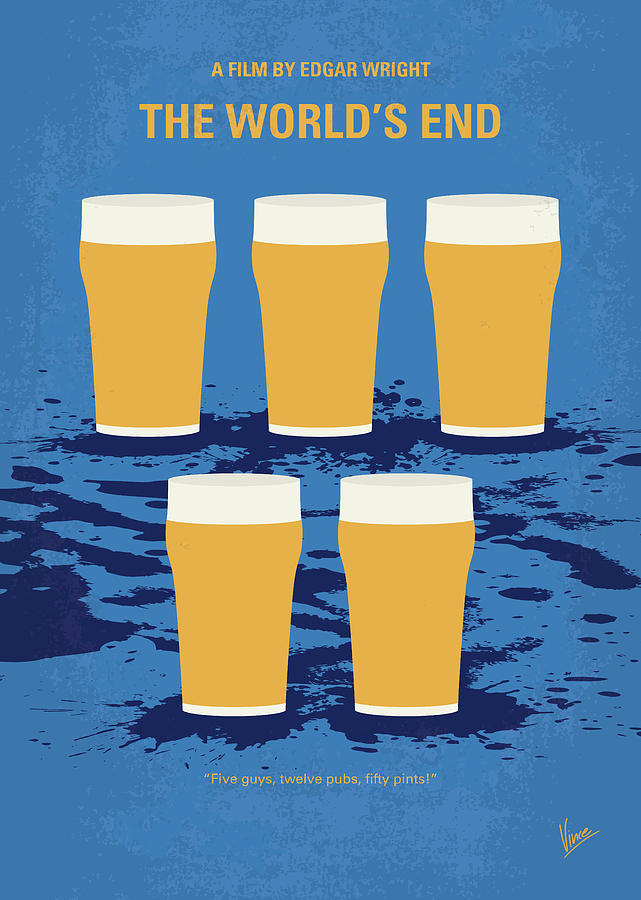 The Digital Art - No843 My The Worlds End Minimal Movie Poster by Chungkong Art