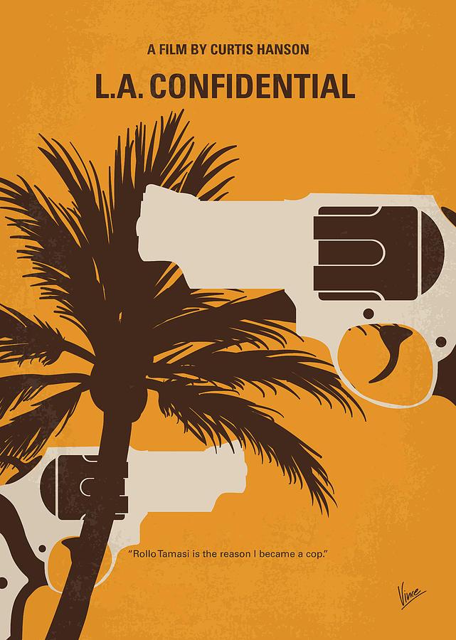 La Digital Art - No866 My LA Confidential minimal movie poster by Chungkong Art