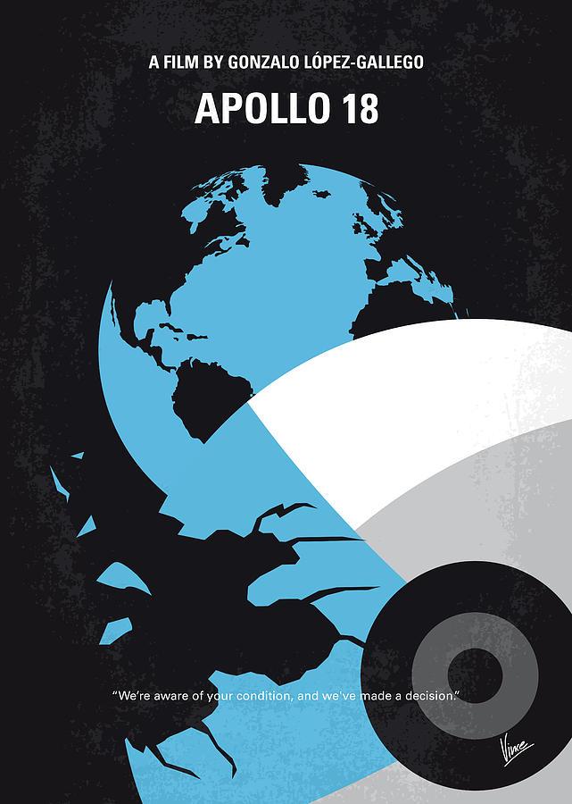 Apollo Digital Art - No873 My Apollo 18 Minimal Movie Poster by Chungkong Art