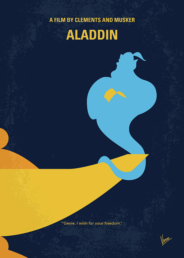 No920 My Aladdin Minimal Movie Poster Digital Art By