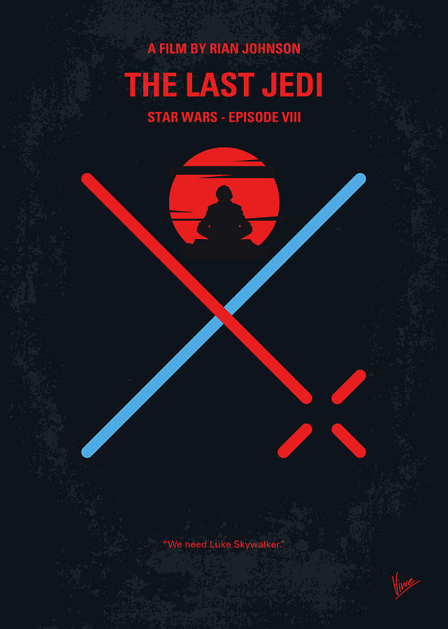 Star Digital Art - No940 My Star Wars Episode Viii The Last Jedi Minimal Movie Poster by Chungkong Art