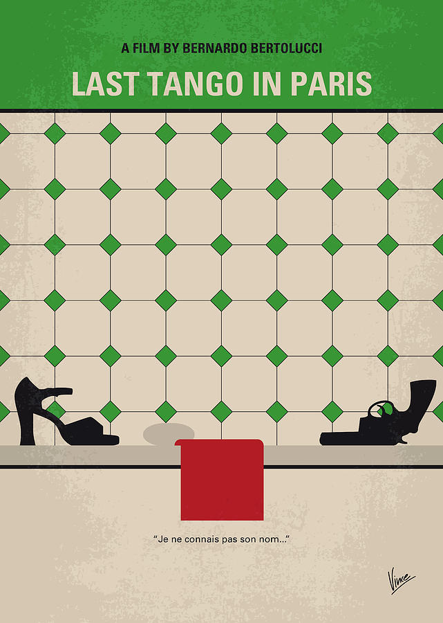 Last Digital Art - No941 My Last Tango In Paris Minimal Movie Poster by Chungkong Art