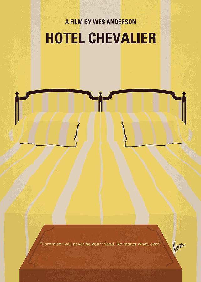 Hotel Digital Art - No943 My Hotel Chevalier Minimal Movie Poster by Chungkong Art