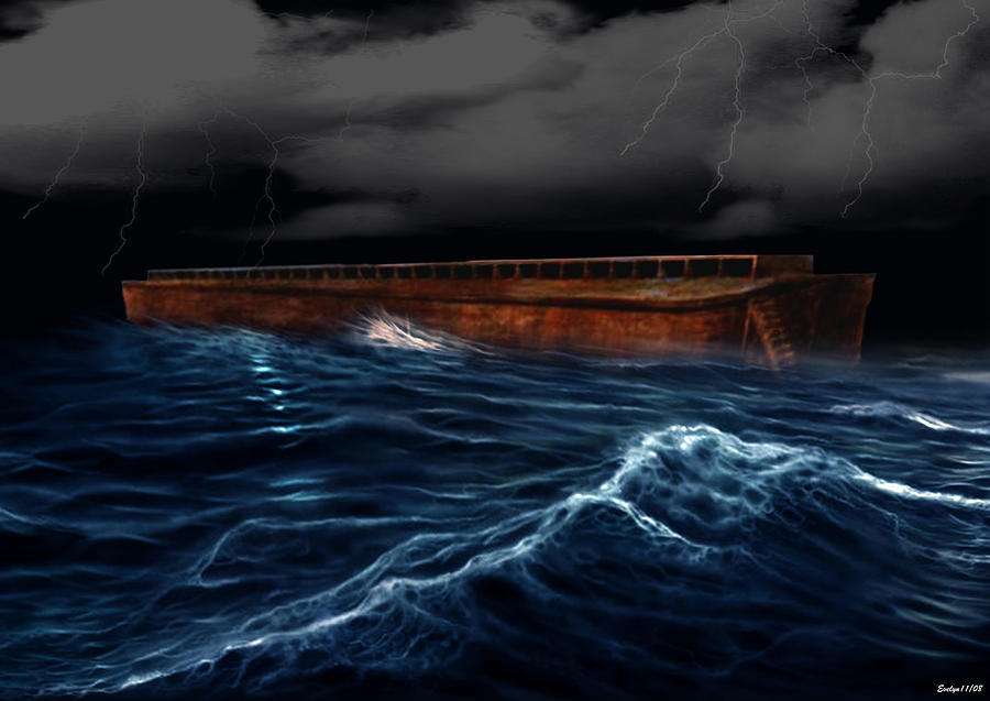 Ship Digital Art - Noah Ark by Evelyn Patrick
