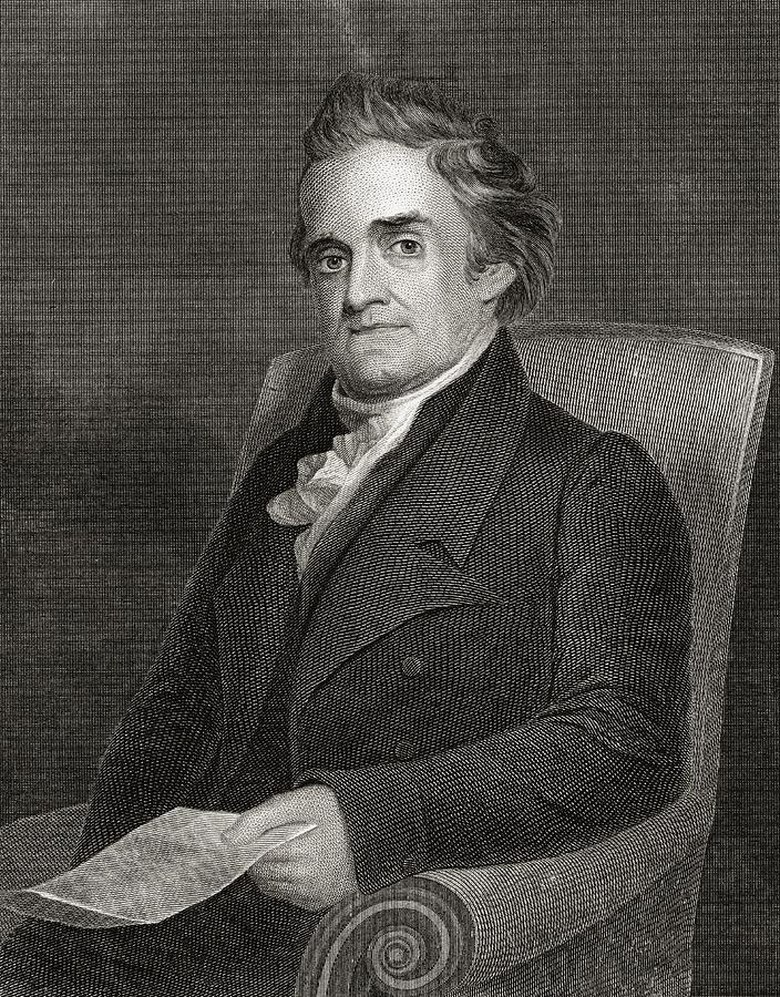 American Drawing - Noah Webster 1758 To 1843 American by Vintage Design Pics