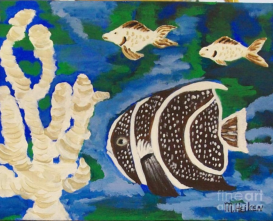 Fish Painting - Noahs Aquarium by Marsha Heiken
