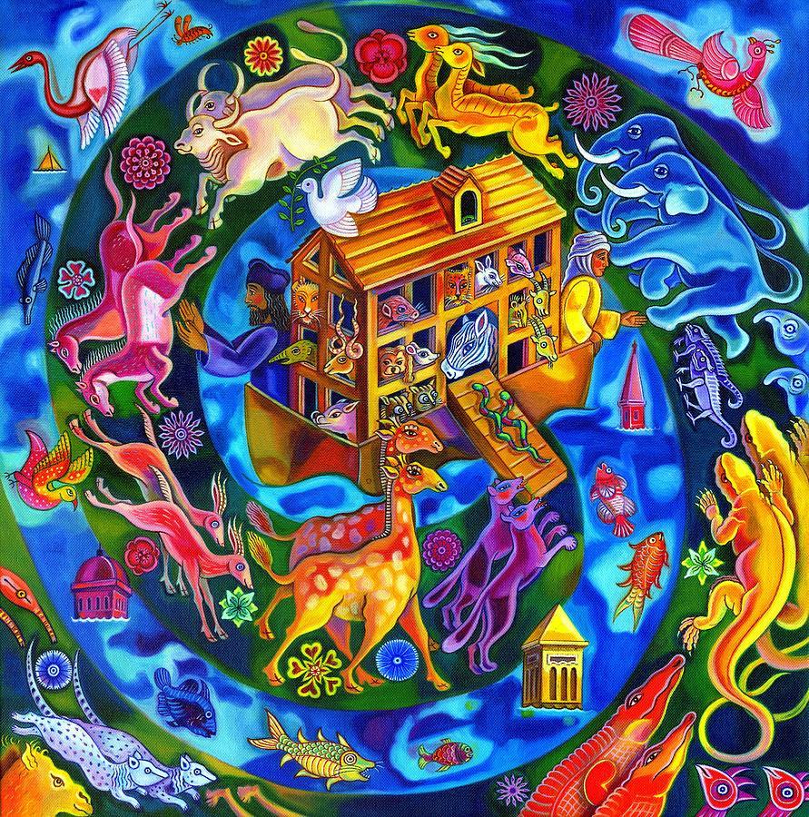 Bright Painting - Noahs Ark by Jane Tattersfield