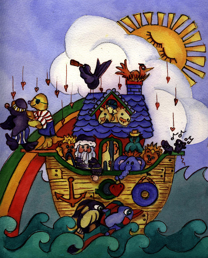 Whimisical Painting - Noahs Ark by Patricia Halstead