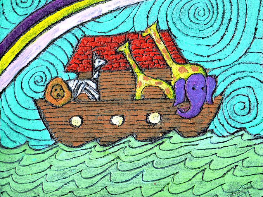 Children's Painting - Noahs Ark Two by Wayne Potrafka