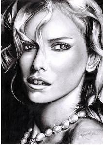Naomi Watts Drawing - Noami Watts by Melissa Anne
