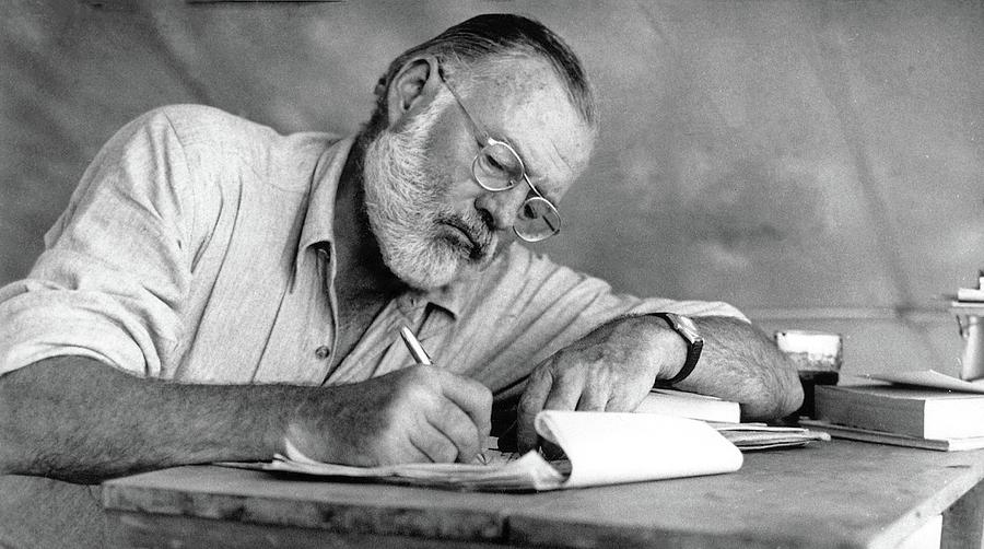 Nobel Prize Winning Author Ernest Hemingway No Date Photograph by David Lee Guss