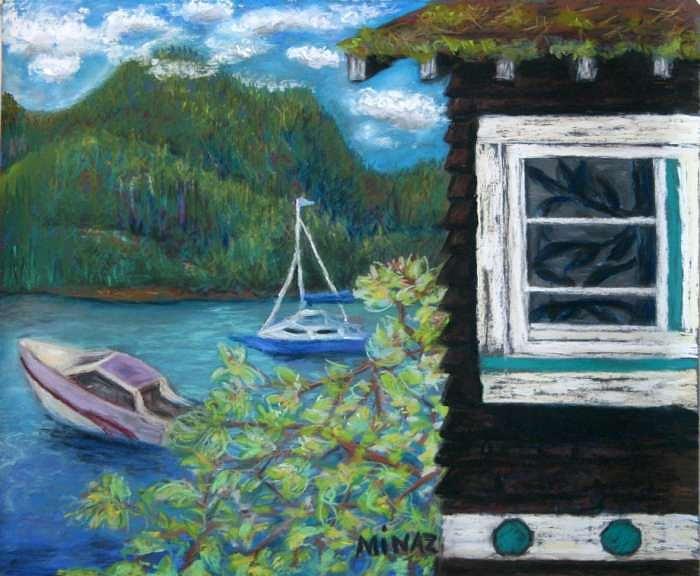 Noble Cottage Painting by Minaz Jantz