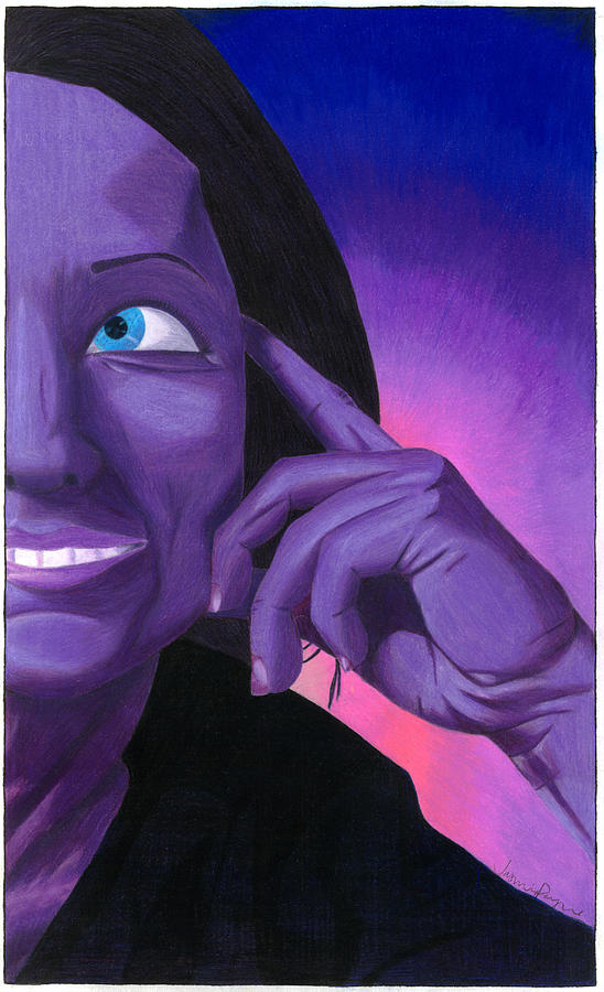 Purple Drawing - Noble by Jasmine Payne