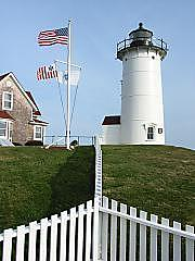 Lighthouse Photograph - Nobska Light by Tara Corbett