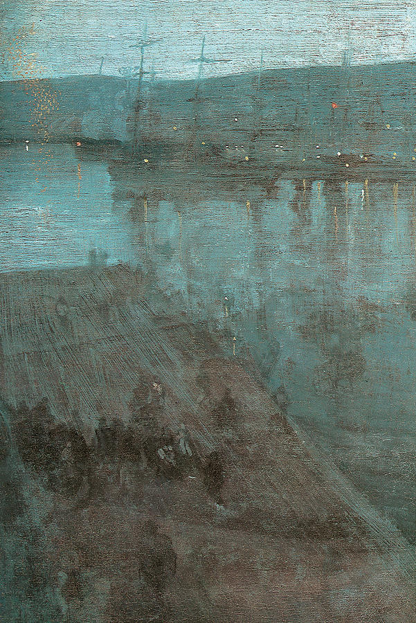 James Abbott Mcneill Whistler Painting - Nocturne In Blue And Gold Valparaiso by James Abbott McNeill Whistler