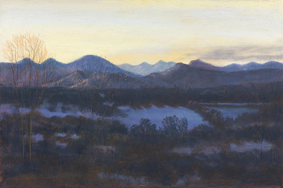 Nocturne On The Front Range Of Colorado Painting by Diane Edwards