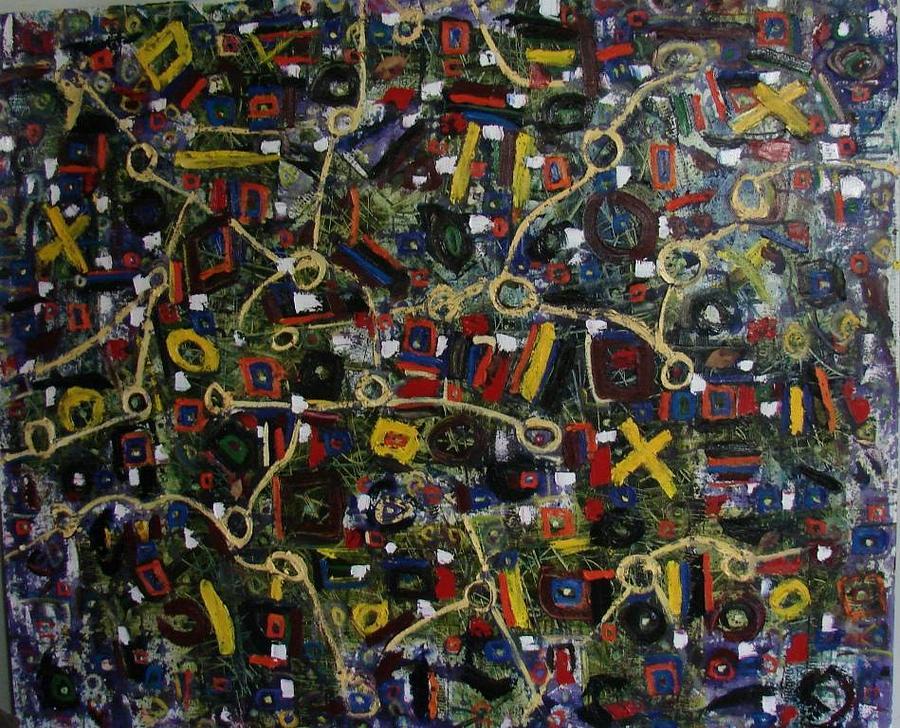 Nodos3 Painting by X Scherenberg