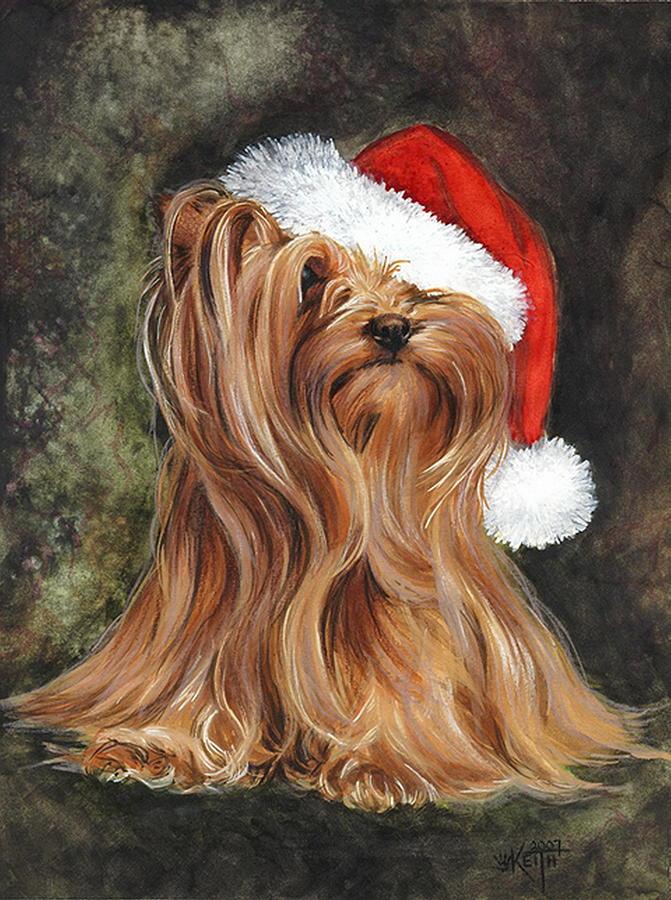 Santa Mixed Media - Noel by Barbara Keith