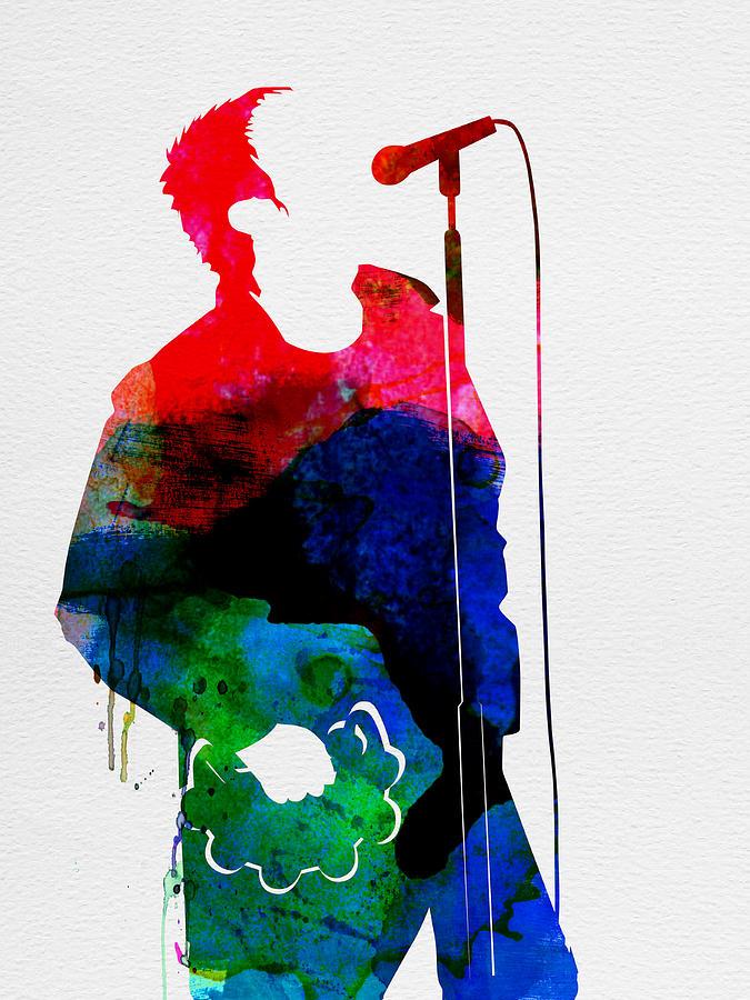 Noel Gallagher Painting - Noel Watercolor by Naxart Studio