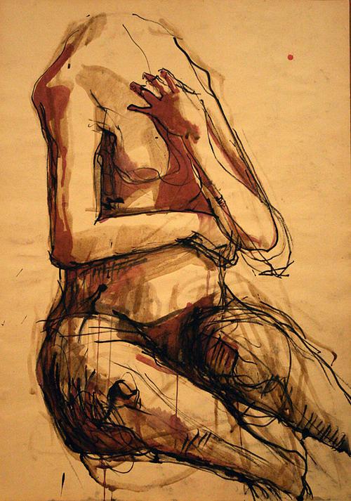Body Drawing - Nohead - Lie by Viktorija Kulesova