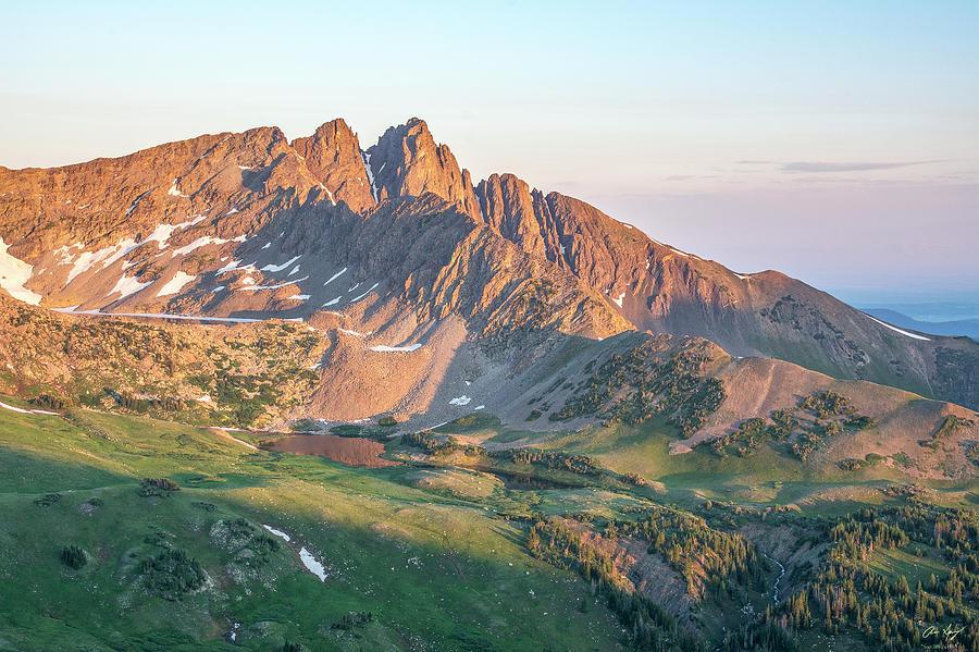 Sunrise Photograph - Nokhu Crags Sunrise by Aaron Spong