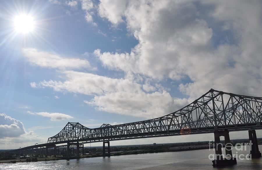 Bridge Pyrography - Nola Bridge by Amanda  Sanford