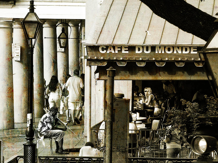 New Orleans Photograph - Nola Jazz Man by Nancy Forehand