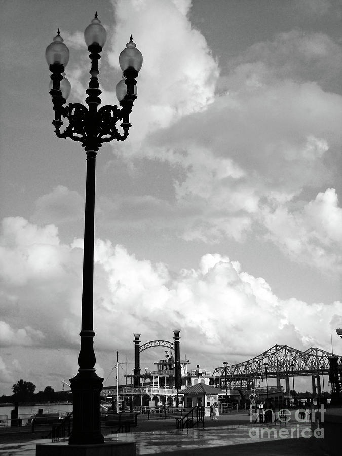 New Orleans Photograph - Nola Riverwalk by Joy Tudor