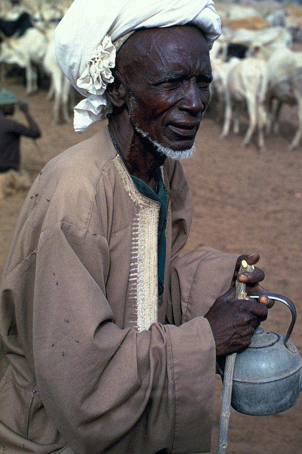 Turban Photograph - Nomad In Senegal by Carl Purcell