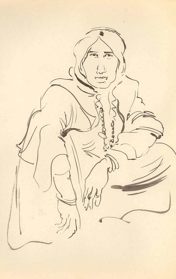 Woman Drawing - Nomand Woman by Mehrdad Sedghi