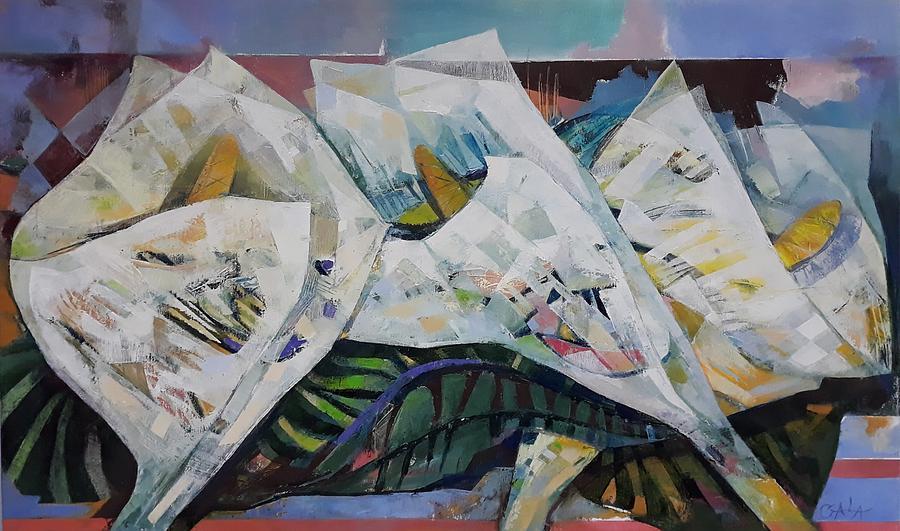 Flowers Painting - Noname by GALA Koleva