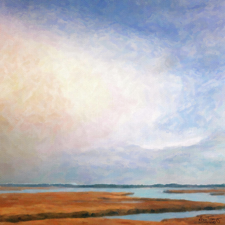 Nonesuch River marsh - Winter by Ann Tracy