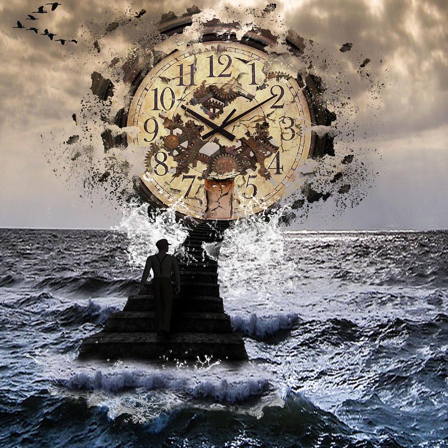Broken Clock Digital Art - Nonspatial Continuum by Barroa Artworks