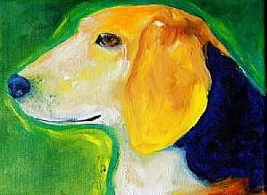 Custom Pet Portraits Painting - Nony by Deborah Sprague