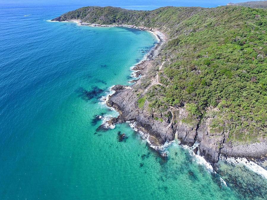 Noosa National Park aerial view by Keiran Lusk