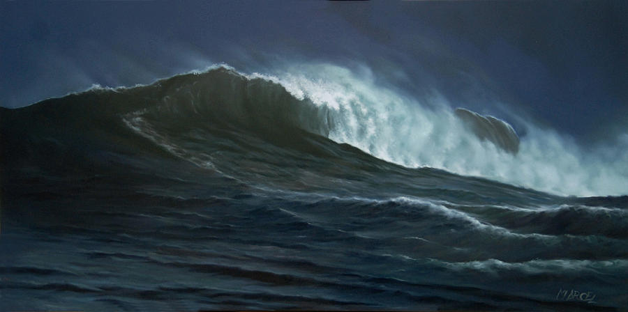 Seascape Painting - Nor by Marcel Franquelin