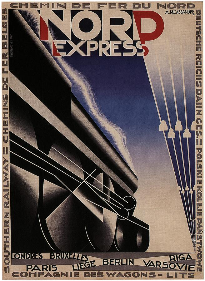 Nord Express Painting - Nord Express - Steam Engine Locomotive - Vintage Art Deco Poster by Studio Grafiikka