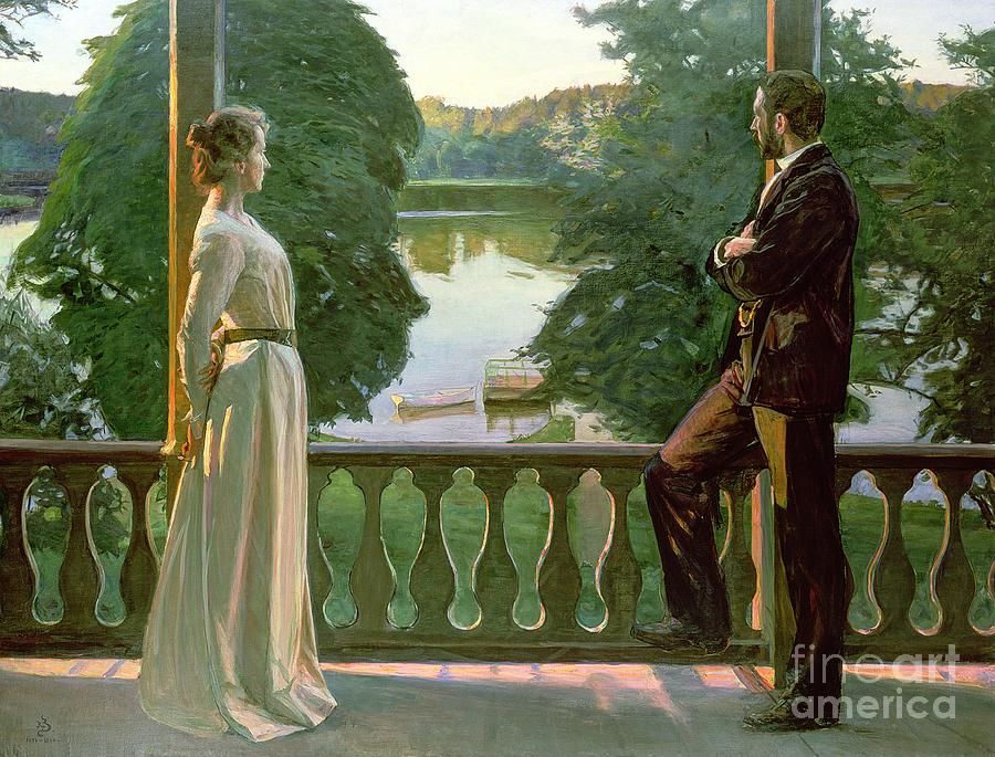 Nordic Painting - Nordic Summer Evening by Sven Richard Bergh