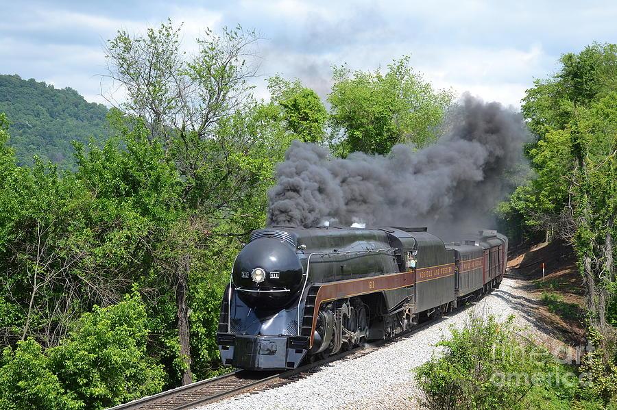 611 Photograph - Norfolk and Western Class J #611 by Steve Gass