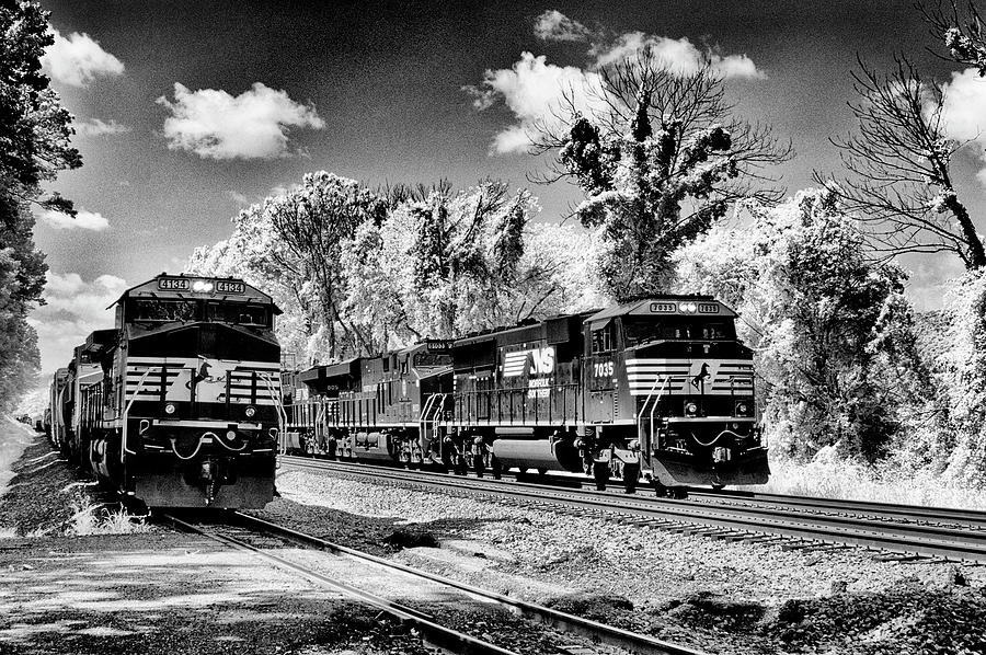 Pennsylvania Photograph - Norfolk Southern On Sidings by Paul W Faust - Impressions of Light
