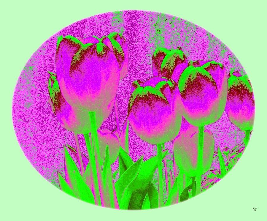Tulips Digital Art - Noric House Tulips by Will Borden